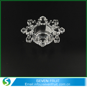 Snow flake wholesale crystal candle holders wedding table decorations