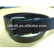 100% cowhide Men's belt with side stitching