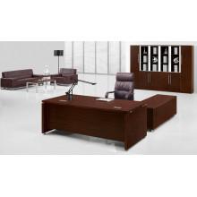 Melamine L en forma de escritorio de color marrón Mobiliario de Oficina Contemporáneo (FOHBE20-A)