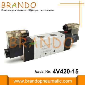 4V420-15 1/2 '' Pneumatisches Magnetventil 5/2 Wege 24VDC