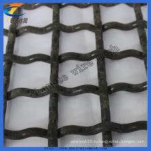 Оцинкованная гофрированная квадратная плетеная проволочная сетка
