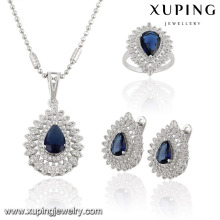 Zircon copper jewelry set ,imitation earring with pendant set