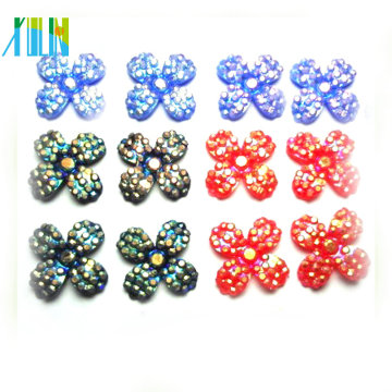 DIY fashion beads flat back cross resin rhinestone beads