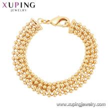75122 Xuping bijoux en or lourds conçoit spécial perle graine laiton bracelet charme Chine en gros