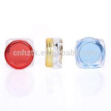Botellas de plástico 3g botellas de cosméticos, caja de sombra de ojos