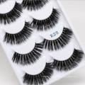 High quality 5 pairs 3d mink fur false eyelash 3d mink eyelashes