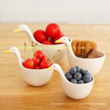 Swan modelo de cerámica Juego de 4 tazas de medición