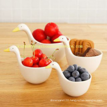 Ceramic Swan Model Set of 4 Measuring Cups