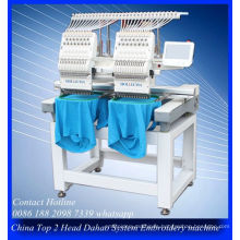 The Best Tajima Type Two Head Computer Embroidery Machine Price for Cap/T-Shirt/Flat Embroidery