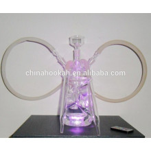 GH066-LT glass smoking pipes /nargile pipe/water pipe/with led light/sheesha/narguile