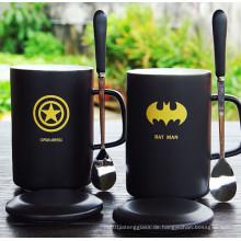 Kaffeetasse, Milch Becher Glasur Keramik Tasse mit Griff
