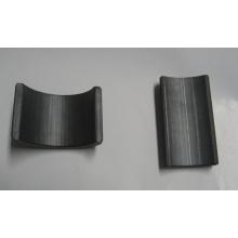 Ímã de ferrita, segmento de arco permanente sinterizado com magnetismo forte