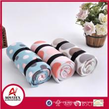 promoción tinte nuevo polar impreso manta de lana polar con correa