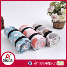 promotion cheap new dye printed polar fleece blanket with strap