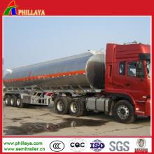 Réservoir de stockage liquide d'huile de stockage de carburant d'acier inoxydable avec la remorque