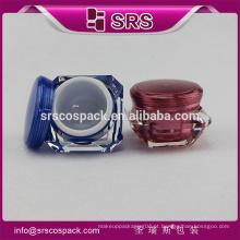 SRS amostra livre acrílico creme frasco, 1oz cosméticos acrílico pele cuidados recipientes