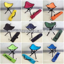 Portable jambe trois triangle pêche tabouret chaise avec caisse gratuite de pliage