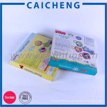 Caja de empaquetado del juguete del abrigo de papel cuadrado de la impresión de encargo del logotipo