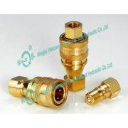 KZD alto rendimiento media presión neumática e hidráulica rápida Coupling(Brass)