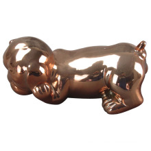 Animal em forma de artesanato de cerâmica, cão de cerâmica