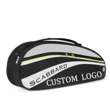 Factory Direct Custom Lightweight Sports Large Badminton Squash Tennis Racket Kit Bag Carry Case Black