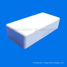 Cas d'aide auditive imperméable en plastique blanc d'ABS