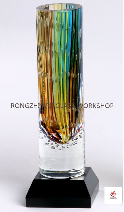 Colored crystal Vase