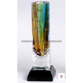 Color Lines Glass Vase
