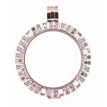 18k ouro chapeado memória Locket para colar pingente ou pulseira