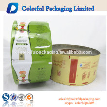 Rolos de embalagem de plástico de embalagem de alimentos de rolo de alumínio de selo de calor de volta