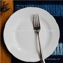 Plato de cerámica de la placa de hueso del plato de la porcelana de los vajilla al por mayor