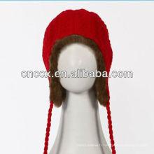 PK17ST338 chapeau de bombardier de mode de dames avec la fourrure chaude à l'intérieur