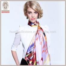 Wholsale мусульманский хиджаб 100 атласа шелковый квадратный шарф
