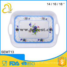 handle rectangle melamine plasticserving fast food serving trays