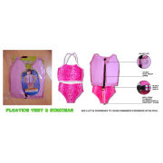 Oem Red Little Girls Vest , Pink Kids Swim Float Suit Swimwear / Personal Flotation Device