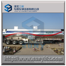 Aluminum Tri-Axle 38 M3 Oil Tank Semi Trailer