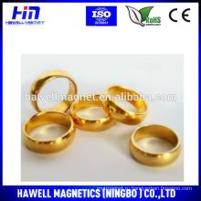 Кольцо из неодима с золотым кольцом ROHS