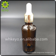 50ml Hot sale make up packing transparent amber colored empty cosmetic glass dropper bottle with rubber dropper