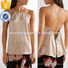 Dentelle à finitions en soie-charmese Camisole Fabrication en gros Mode Femmes Vêtements (TA4094B)