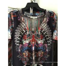 Robe décontrachée pour dames Fashion Silk-5 imprimée