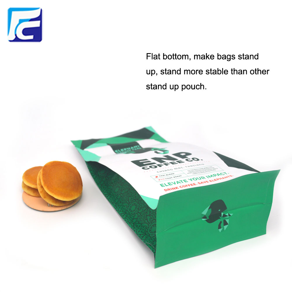 Flat Bottom Zipper Coffee Pouch