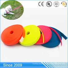 Sangle matérielle enduite durable de PVC de polyester de laisse molle de polyester pour la corde principale de cheval