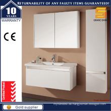Modernes MDF-Weiß-Lack-Badezimmer-Eitelkeits-Set