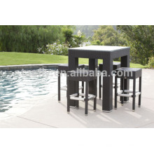 Открытый патио бар ПЭ набор Синтетические плетеная мебель из лозы смолы сад & бассейн
