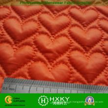 Tecido de padrão de coração acolchoado para mulheres casaco de inverno