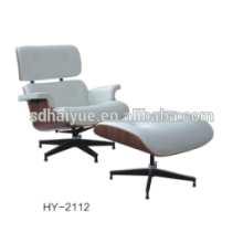 Very Hot sale model Lounge Chair With Ottoman make in top cow leather and walnut wood HY2112
