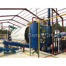 Reator de aço de ebulição Q245R, resíduos para óleo planta de reciclagem de pneus de pirólise a vácuo