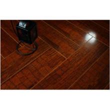 Commercial 12.3mm Mirror Walnut Sound Absorbing Laminate Floor