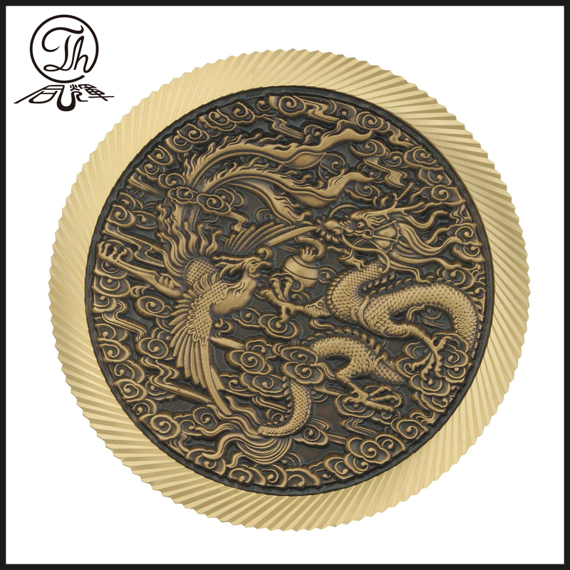 Commemorative Dragon metal carved coins