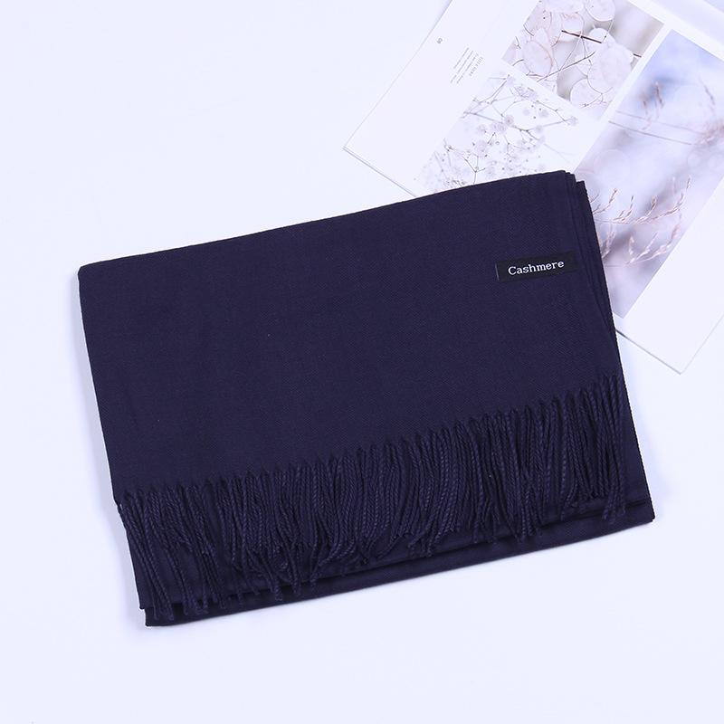 Pure color imitation cashmere scarf cashmere scarf (9)